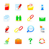 Iconos del ordenador Foto de archivo libre de regalías