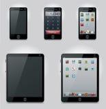 Iconos del ordenador de la tablilla del vector y del teléfono móvil
