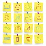 Iconos del ordenador en vector del cuaderno de notas Fotos de archivo libres de regalías