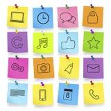 Iconos del ordenador en vector del cuaderno de notas Foto de archivo libre de regalías