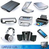 Iconos del ordenador fijados ilustración del vector