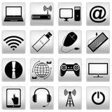 Iconos del ordenador fijados Imagen de archivo libre de regalías