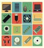 Iconos del ordenador fijados Foto de archivo libre de regalías