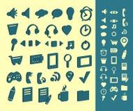 Iconos del ordenador fijados Fotos de archivo