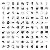 Iconos del ordenador 100 fijados para el web Fotos de archivo