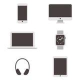 Iconos del ordenador fijados Vector Fotos de archivo