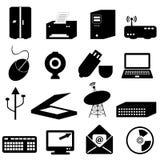 Iconos del ordenador y de la tecnología Imágenes de archivo libres de regalías