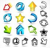 Iconos del ordenador y del Internet Imágenes de archivo libres de regalías