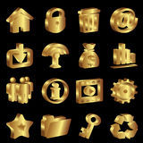 Iconos del oro Imagen de archivo
