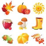 Iconos del otoño Fotos de archivo libres de regalías