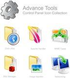 Iconos del panel de control  Foto de archivo libre de regalías
