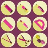 Iconos del papel fijados Imagen de archivo libre de regalías