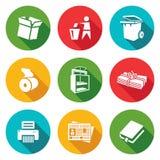 Iconos del papel usado fijados Ilustración del vector Fotos de archivo