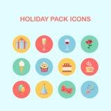 Iconos del paquete del día de fiesta Imagenes de archivo