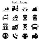 Iconos del parque público stock de ilustración