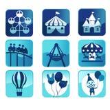 Iconos del parque temático Imagen de archivo libre de regalías
