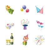 Iconos del partido Foto de archivo libre de regalías