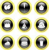 Iconos del partido stock de ilustración