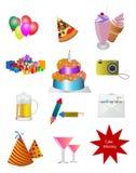 Iconos del partido Fotos de archivo libres de regalías