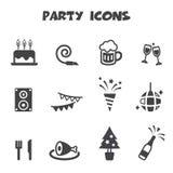 Iconos del partido Imágenes de archivo libres de regalías
