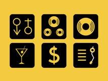 Iconos del partido Fotografía de archivo libre de regalías