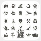 Iconos del partido de Halloween fijados Imágenes de archivo libres de regalías