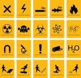 Iconos del peligro Foto de archivo