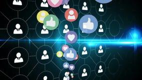 Iconos del perfil e iconos sociales de los medios ilustración del vector