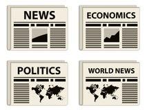 Iconos del periódico Imagen de archivo