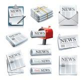 Iconos del periódico Fotos de archivo libres de regalías