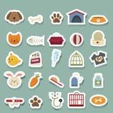 Iconos del perro fijados ilustración del vector