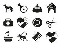 Iconos del perro fijados para el web Qué perros necesitan Foto de archivo libre de regalías