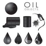 Iconos del petróleo Imagen de archivo libre de regalías