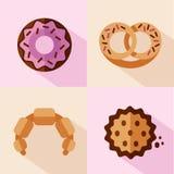 Iconos del postre Imagen de archivo