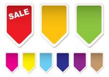 Iconos del precio Imagen de archivo libre de regalías
