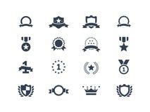 Iconos del premio Imagen de archivo