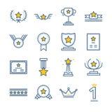 Iconos del premio y del premio fijados libre illustration