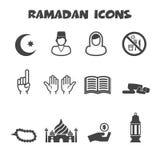 Iconos del Ramadán Imagen de archivo libre de regalías