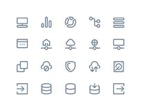 Iconos del recibimiento y de la red inalámbrica Línea serie