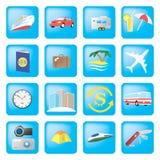 Iconos del recorrido Imagen de archivo