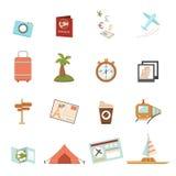 Iconos del recorrido ilustración del vector