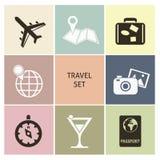 Iconos del recorrido Fotos de archivo libres de regalías