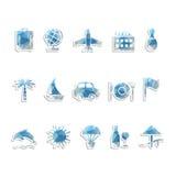 Iconos del recorrido Imagenes de archivo