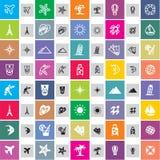 Iconos del recorrido Imágenes de archivo libres de regalías
