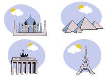 Iconos del recorrido Fotos de archivo