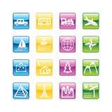 Iconos del recorrido del Aqua Libre Illustration