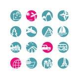 Iconos del recorrido del círculo Ilustración del Vector