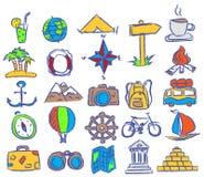 Iconos del recorrido del vector Imágenes de archivo libres de regalías