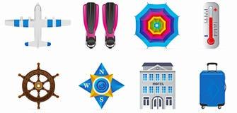Iconos del recorrido del vector fijados Fotografía de archivo