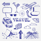 Iconos del recorrido fijados Foto de archivo libre de regalías